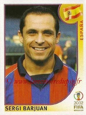 2002 - Panini FIFA World Cup Stickers - N° 103 - Sergi BARJUAN (Espagne)