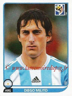 2010 - Panini FIFA World Cup South Africa Stickers - N° 123 - Diego MILITO (Argentine)