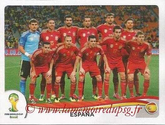 2014 - Panini FIFA World Cup Brazil Stickers - N° 109 - Equipe Espagne