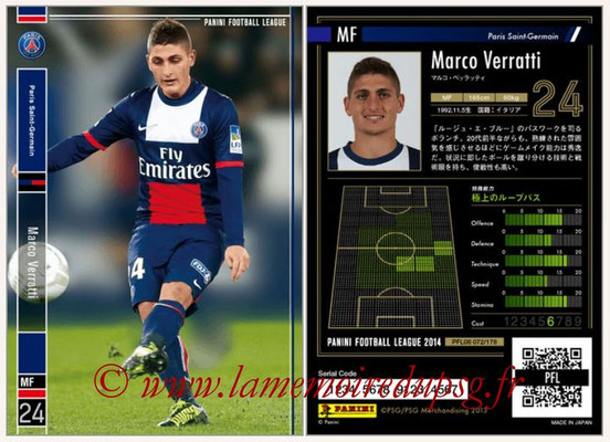 Panini Football League 2014 - PFL08 - N° 072 - Marco VERRATTI (Paris Saint-Germain)