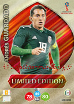 2018 - Panini FIFA World Cup Russia Adrenalyn XL - N° LE-AGU - Andrés GUARDADO (Mexique) (Limited Edition)