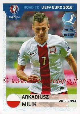 Panini Road to Euro 2016 Stickers - N° 223 - Arkadiusz MILK (Pologne)