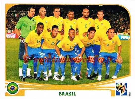 2010 - Panini FIFA World Cup South Africa Stickers - N° 486 - Équipe Brésil