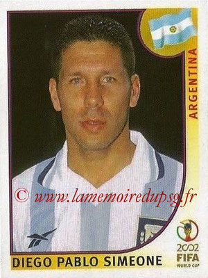 2002 - Panini FIFA World Cup Stickers - N° 393 - Diego Pablo SIMEONE (Argentine)