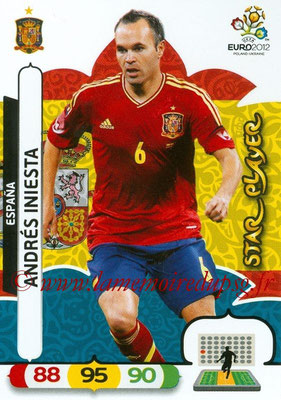 Panini Euro 2012 Cards Adrenalyn XL - N° 066 - Andrés INIESTA (Espagne) (Star Player)