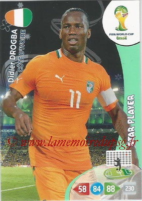 2014 - Panini FIFA World Cup Brazil Adrenalyn XL - N° 102 - Didier DROGBA (Côte d'Ivoire) (Star Player)