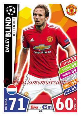 2017-18 - Topps UEFA Champions League Match Attax - N° 148 - Daley BLIND (Manchester United)
