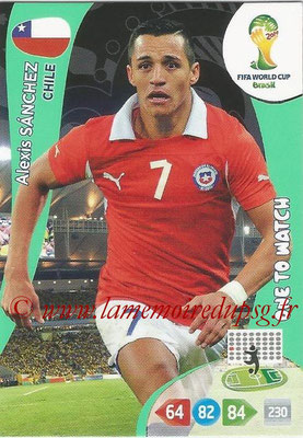 2014 - Panini FIFA World Cup Brazil Adrenalyn XL - N° 074 - Alexis SANCHEZ (Chili) (One to watch)