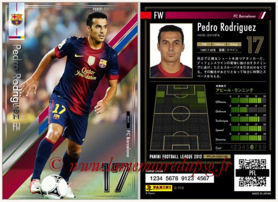 Panini Football League 2013 - PFL04 - N° 040 - Pedro RODRIGUEZ (FC Barcelone)