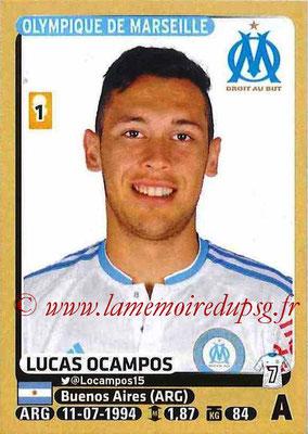 2015-16 - Panini Ligue 1 Stickers - N° 239 - Lucas OCAMPOS (Olympique de Marseille)
