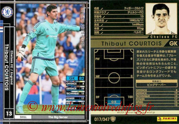 2015-16 - Panini WCCF - N° 017 - Thibaut COURTOIS (Chelsea FC)
