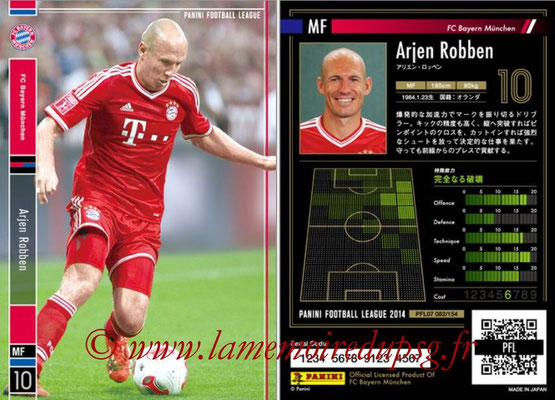 Panini Football League 2014 - PFL07 - N° 082 - Arjen ROBBEN (Bayern Munich)