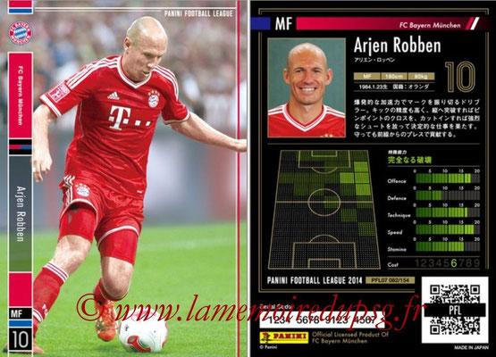 Panini Football League 2014 - PFL07 - N° 082 - Arjen ROBBEN (Bayern Munich)