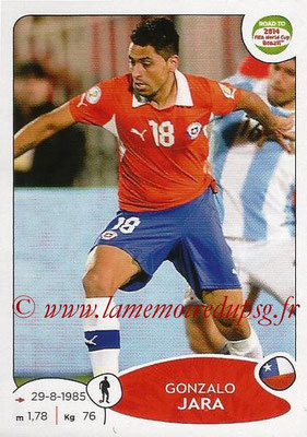 2014 - Panini Road to FIFA World Cup Brazil Stickers - N° 162 - Gonzalo JARA (Chili)