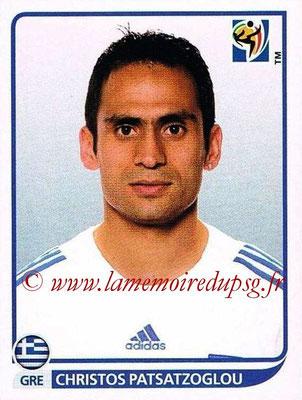 2010 - Panini FIFA World Cup South Africa Stickers - N° 169 - Christos PATSATZOGLOU (Grèce)
