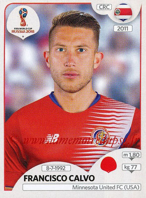 2018 - Panini FIFA World Cup Russia Stickers - N° 398 - Francisco CALVO (Costa Rica)