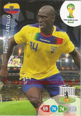 2014 - Panini FIFA World Cup Brazil Adrenalyn XL - N° 124 - Segundo CASTILLO (Equateur)