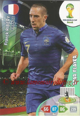 2014 - Panini FIFA World Cup Brazil Adrenalyn XL - N° 163 - Franck RIBERY (France) (Star Player)