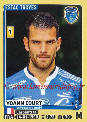 2015-16 - Panini Ligue 1 Stickers - N° 473 - Yoann COURT (ESTAC Troyes)