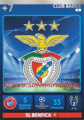 2014-15 - Adrenalyn XL champions League N° 011 - Logo SL Benfica (Club Badge)