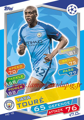 2016-17 - Topps UEFA Champions League Match Attax - N° MC10 - Yaya TOURE (Manchester City FC)