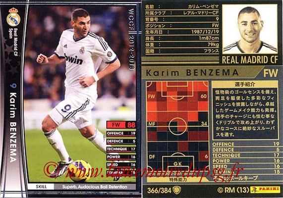 2012-13 - WCCF - N° 366 - Karim BENZEMA (Real Madrid CF)