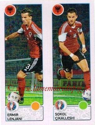 Panini Euro 2016 Stickers - N° 094 - Emir LENJANI + Sokol CIKALLESHI (Albanie)
