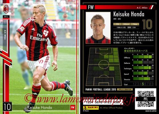 Panini Football League 2015 - PFL11 - N° 004 - Keisuke HONDA (Milan AC)