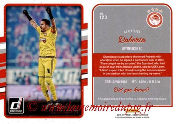 2016 - Panini Donruss Cards - N° 123 - ROBERTO (Olympiacos FC)