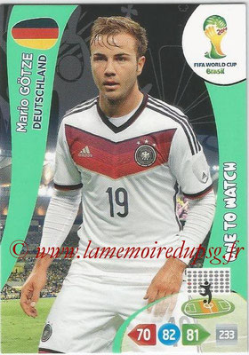 2014 - Panini FIFA World Cup Brazil Adrenalyn XL - N° 113 - Mario GOTZE (Allemagne) (One to watch)