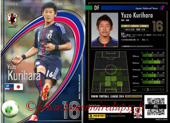 Panini Football League 2014 - PFL06W - N° 010 - Yuzo KURIHARA (Japon) (Star +)