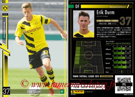 Panini Football League 2015 - PFL09 - N° 088 - Erik DURM (Borussia Dortmund)