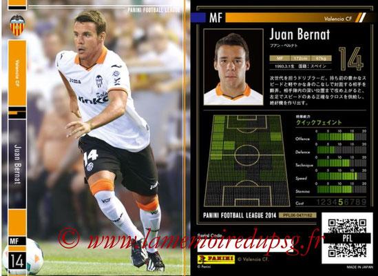 Panini Football League 2014 - PFL06 - N° 047 - Juan BERNAT (FC Valence)