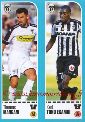 2016-17 - Panini Ligue 1 Stickers - N° 016 + 017 - Thomas MANGANI + Karl TOKO EKAMBI (Angers)