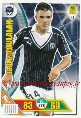 2017-18 - Panini Adrenalyn XL Ligue 1 - N° 042 - Jérémy TOULALAN (Bordeaux)