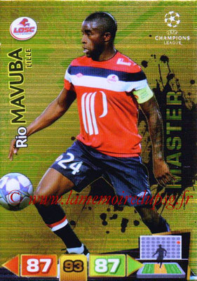 2011-12 - Panini Champions League Cards - N° 338 - Rio MAVUBA (Lille) (Master)