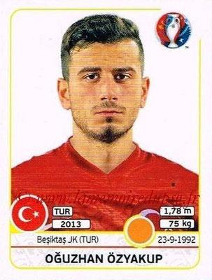 Panini Euro 2016 Stickers - N° 421 - Oguzhan OZYAKUP (Turquie)