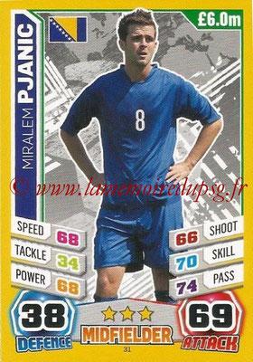 Topps Match Attax England 2014 - N° 031 - Miralem PJANIC (Bosnie Herzégovine)