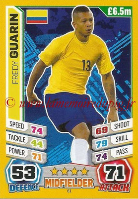 Topps Match Attax England 2014 - N° 061 - Fredy GUARIN (Colombie)