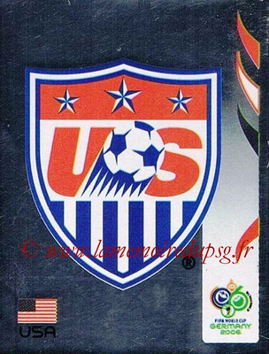2006 - Panini FIFA World Cup Germany Stickers - N° 341 - Logo États Unis