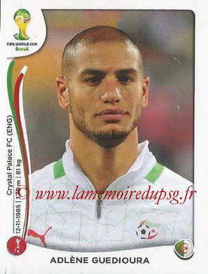 2014 - Panini FIFA World Cup Brazil Stickers - N° 588 - Adlene GUEDIOURA (Algérie)