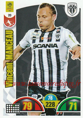 2018-19 - Panini Adrenalyn XL Ligue 1 - N° 020 - Vincent MANCEAU (Angers)
