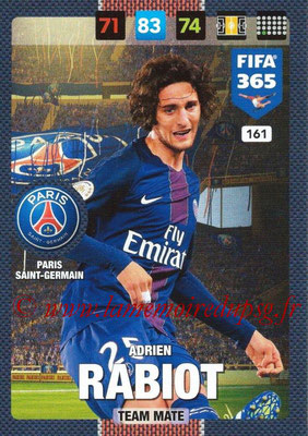 2016-17 - Panini Adrenalyn XL FIFA 365 - N° 161 - Adrien RABIOT (Paris Saint-Germain)