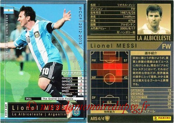 2012-13 - WCCF - N° ARS4 - Lionel MESSI (Argentine)