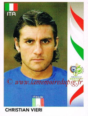 2006 - Panini FIFA World Cup Germany Stickers - N° 339 - Christian VIERI (Italie)