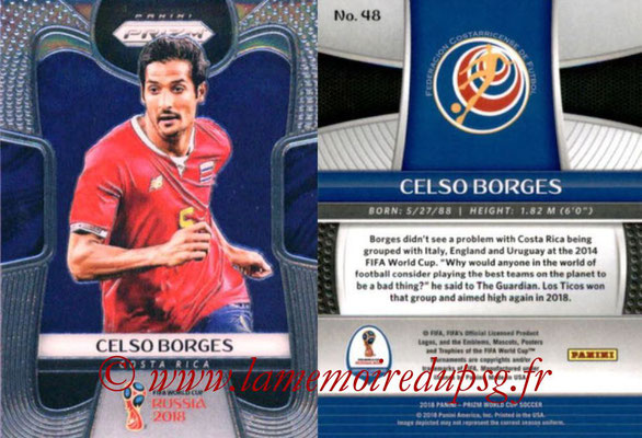 2018 - Panini Prizm FIFA World Cup Russia - N° 048 - Celson BORGES (Costa Rica)