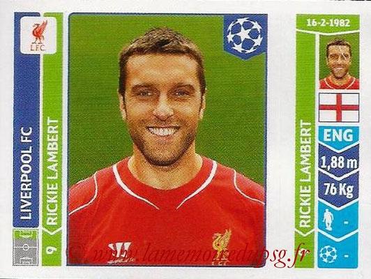 2014-15 - Panini Champions League N° 162 - Rickie LAMBERT (Liverpool FC)