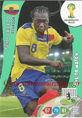 2014 - Panini FIFA World Cup Brazil Adrenalyn XL - N° 126 - Felipe CAICEDO (Equateur) (One to watch)