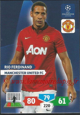 2013-14 - Adrenalyn XL champions League N° 173 - Rio FERDINAND (Manchester United FC)