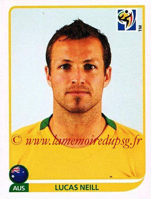 2010 - Panini FIFA World Cup South Africa Stickers - N° 281 - Lucas NEILL (Australie)